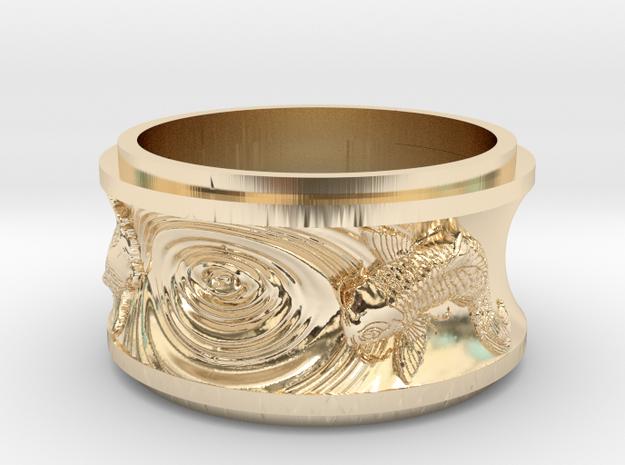 Karp in 14K Gold