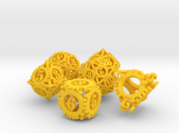 Steampunk Gear Dice Set noD00 3d printed