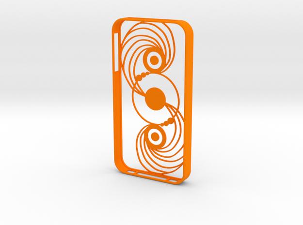 Crop Circle IPhone Case 4s in Orange Processed Versatile Plastic