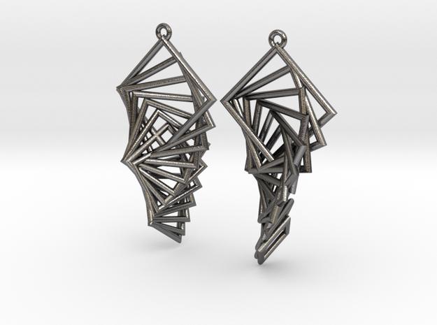 Arithmetic Earrings (Rhombus) 3d printed