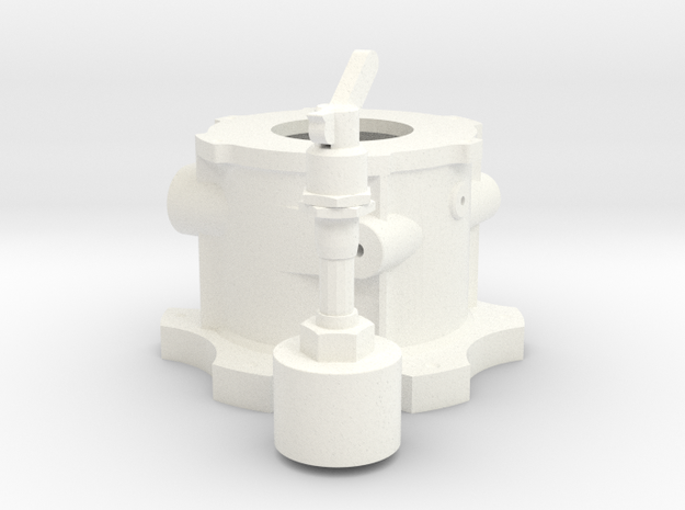 1/12 Lenco Front Tranny Section in White Processed Versatile Plastic
