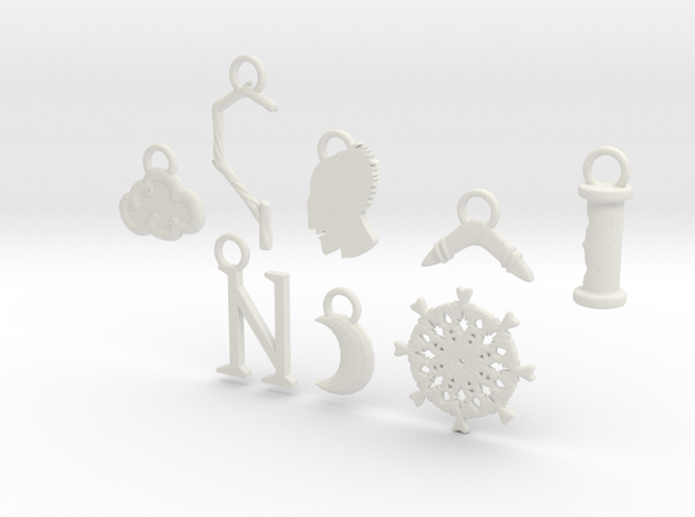 Jack Frost Charms 3d printed
