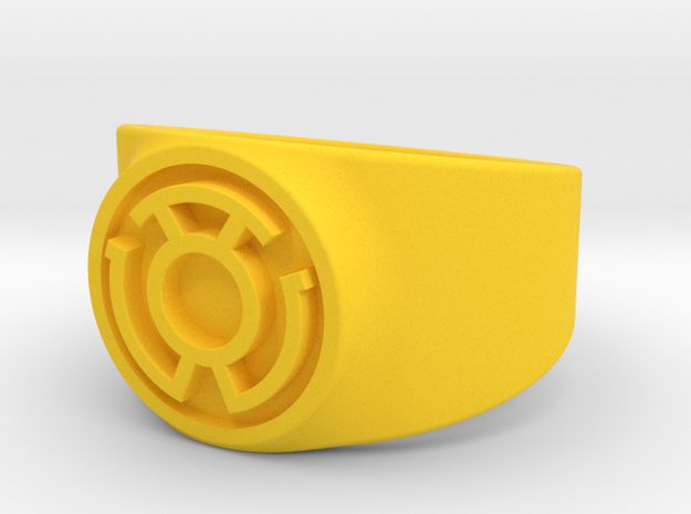 Sinestro Yellow Fear GL Ring Sz 13 3d printed