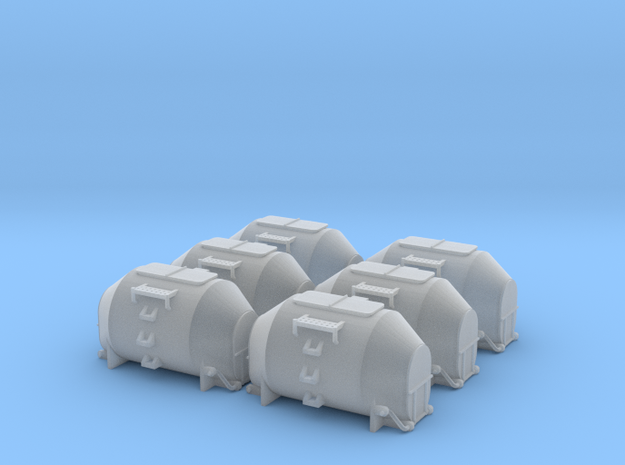 EFKR Dry Bulk Container - Set of 6 - Zscale in Smooth Fine Detail Plastic