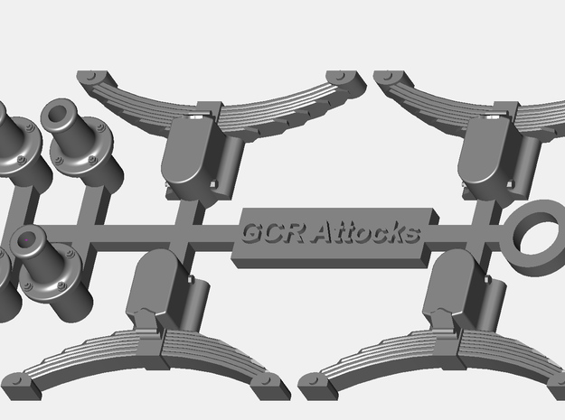 GCR Attocks Axleboxes, springs and buffers in Smooth Fine Detail Plastic