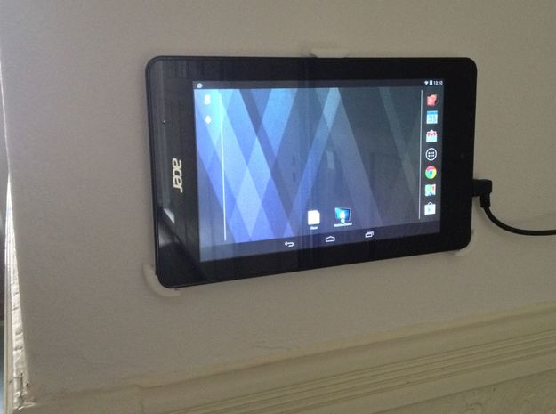 Acer Iconia One 7 Wall Mount / Wandhalterung in White Natural Versatile Plastic