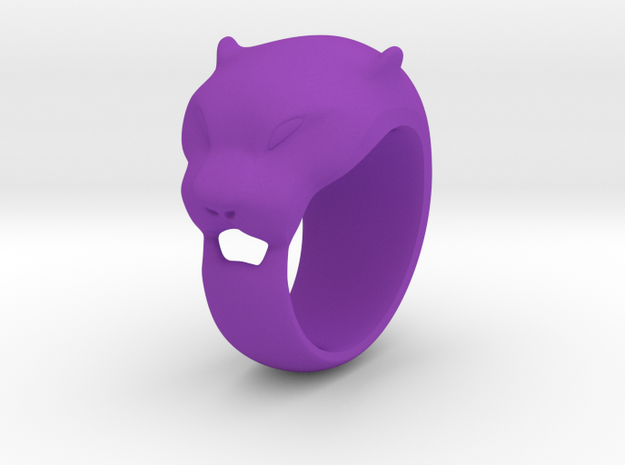 Panther ring 200% 3d printed