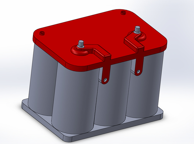 Optima Style 1:10 Scale Battery  in Red Processed Versatile Plastic