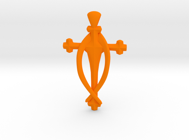 Fish Cross pendant 3d printed