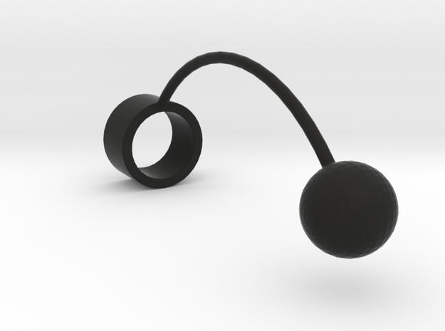 """""""Tantalus kwelling"""" Ring in Black Natural Versatile Plastic"""