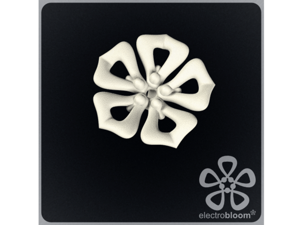 Jenny flower charm. in White Natural Versatile Plastic