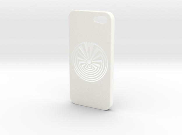 Man In The Maze iPhone 5s Case in White Processed Versatile Plastic