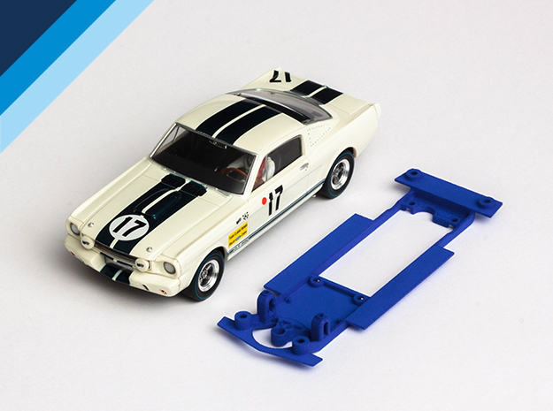 1/32 Monogram Ford Mustang GT350 Chassis in Blue Processed Versatile Plastic