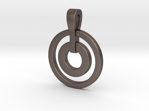Dual Ring Necklace 3d printed