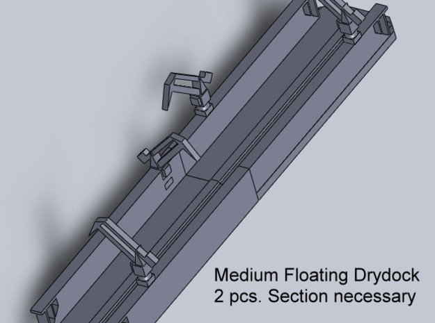 SCHWIMMDOCK B, FLOATING DOCK B 1/2400 3d printed used as a floating dock modern