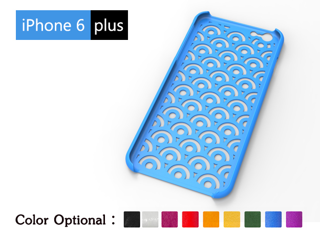 IPhone6 Plus Case-clouding in Blue Processed Versatile Plastic