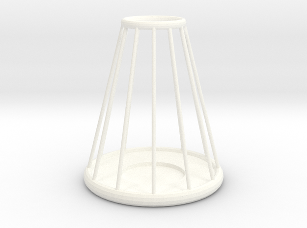 Candle Stick Holder in White Processed Versatile Plastic