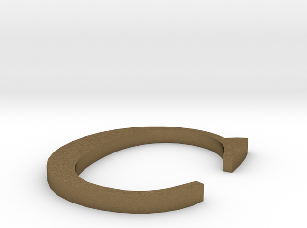 Letter-C in Natural Bronze