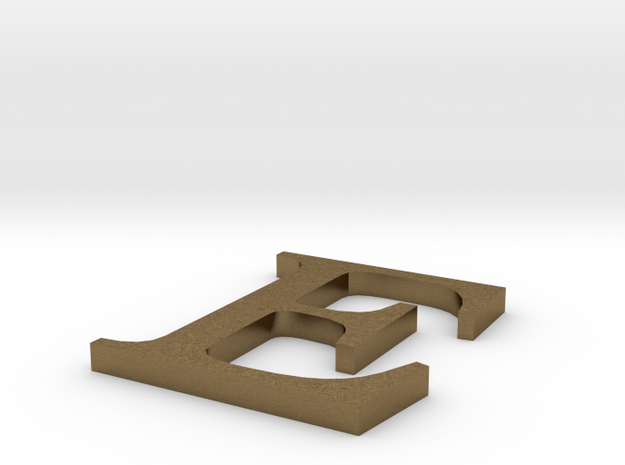 Letter-E in Natural Bronze