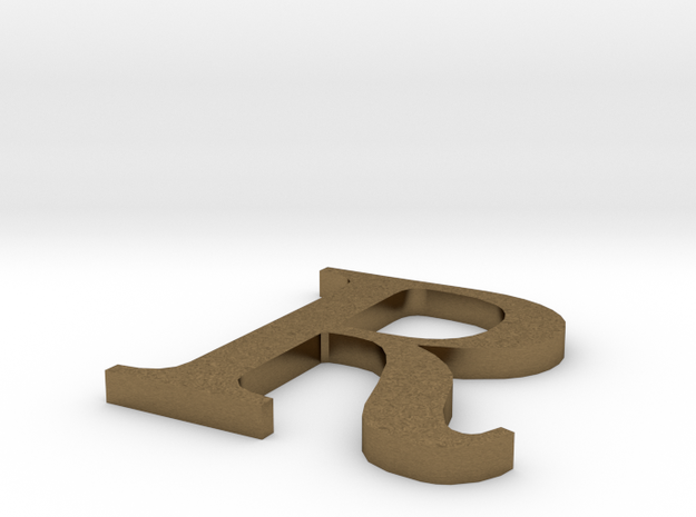 Letter-R in Raw Bronze