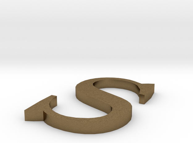 Letter-S in Natural Bronze