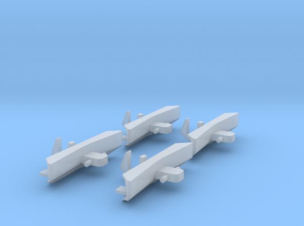 Schienenräumer für JC 2043 4 Stk. in Frosted Ultra Detail