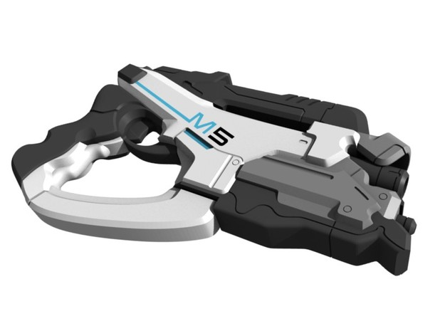 Mass Effect - 1:8 scale - M5 Phalanx in White Natural Versatile Plastic