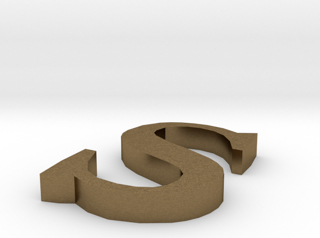Letter- s in Natural Bronze