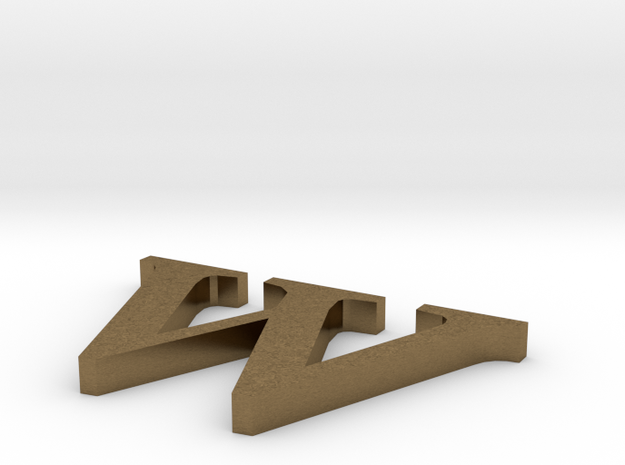Letter- w in Natural Bronze