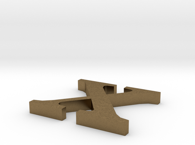 Letter- x in Natural Bronze