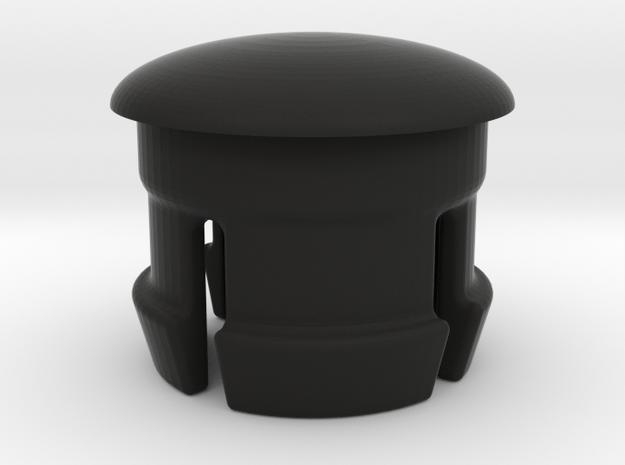 Bar end - Flat/Rear (for 22.2mm handlebar extensio in Black Natural Versatile Plastic