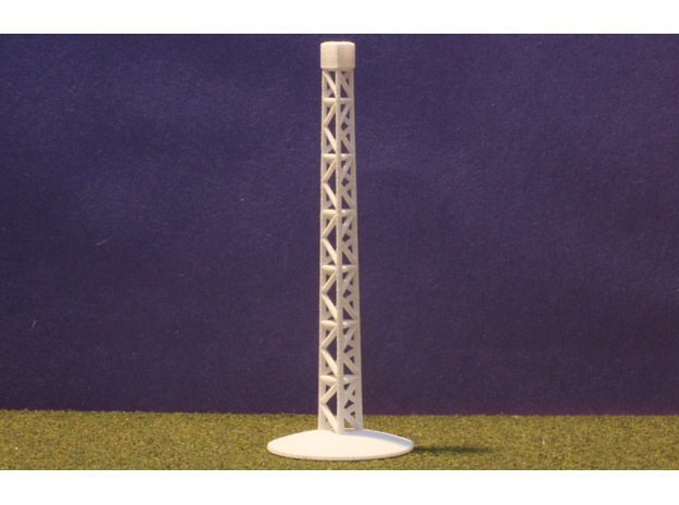 Airplane Display Stand in White Natural Versatile Plastic: 1:144