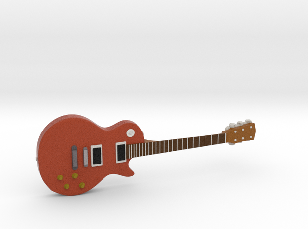 Les Paul Guitar 1:18 in Full Color Sandstone