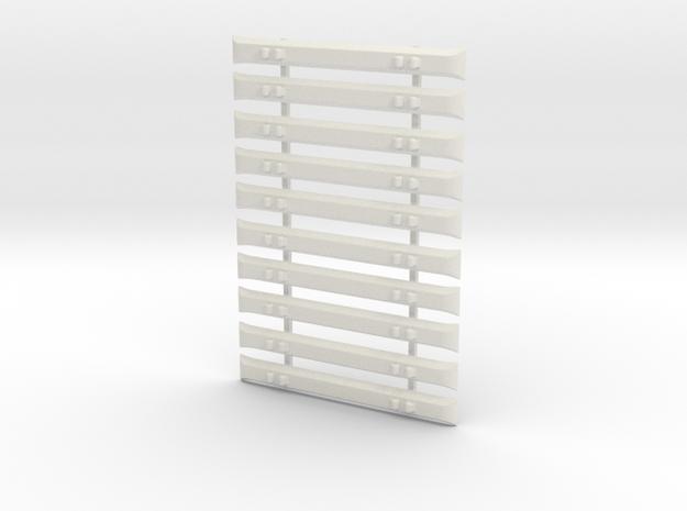 7mm Steel Sleepers x 10 in White Natural Versatile Plastic