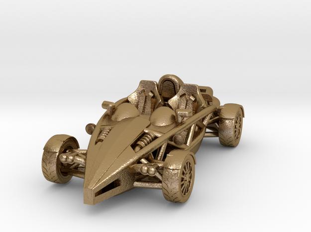 Ariel Atom, steel key fob HO scale, LHD w/o wings in Polished Gold Steel