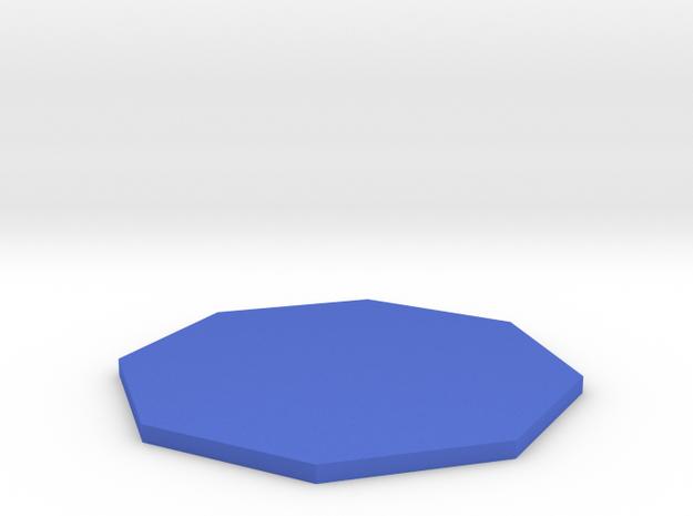 Octagon in Blue Processed Versatile Plastic
