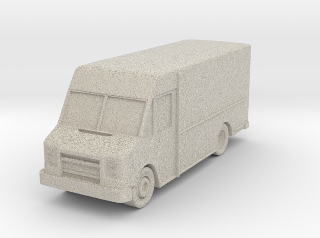 "Delivery Truck at 1""=16' Scale in Natural Sandstone"