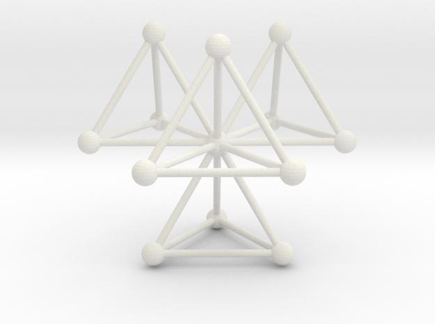 Tetrahedra in White Natural Versatile Plastic