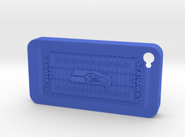 iPhone 4 Football SH in Blue Processed Versatile Plastic