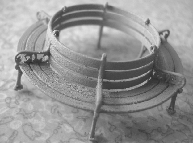 6 Section Circular Bench 1:76 scale 3d printed Photo - printed in FUD and primed