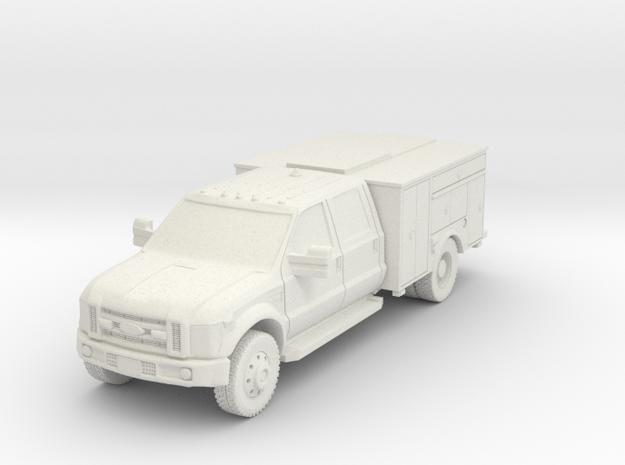 1/87 HO F-450 Mod 1 NO Lights in White Natural Versatile Plastic