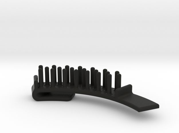 Guitar Pick Holder Curved Nubs in Black Strong & Flexible