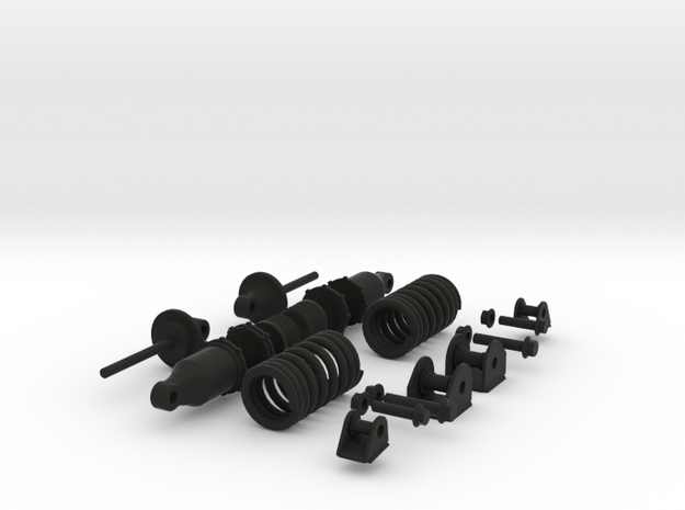 Generic Coilover Shocks in Black Natural Versatile Plastic