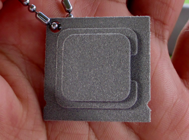 CPU Pendent  in Polished Metallic Plastic