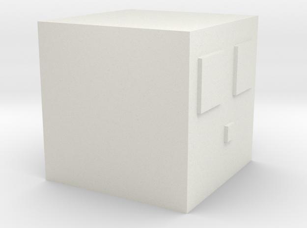 Minecraft Slime Medium in White Strong & Flexible