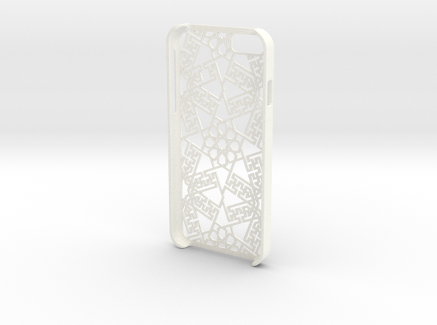 iPhone 6 - Case ORIENTAL in White Strong & Flexible Polished