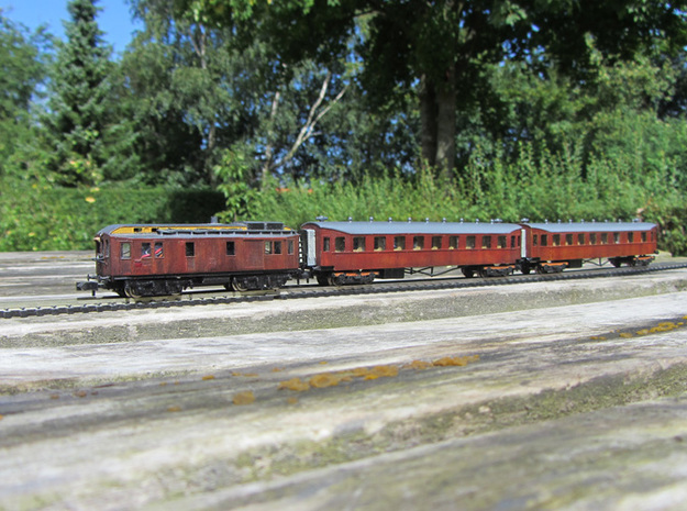 DSB MT 104 N scale 3d printed Passenger cars not included