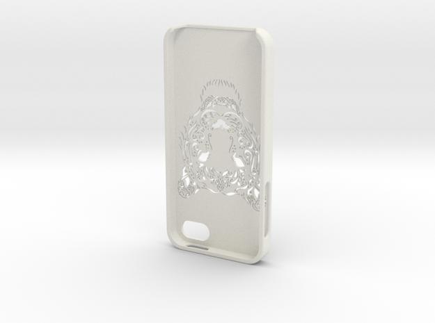 Iphone 5 Hoesje Bjorn Tijger in White Strong & Flexible