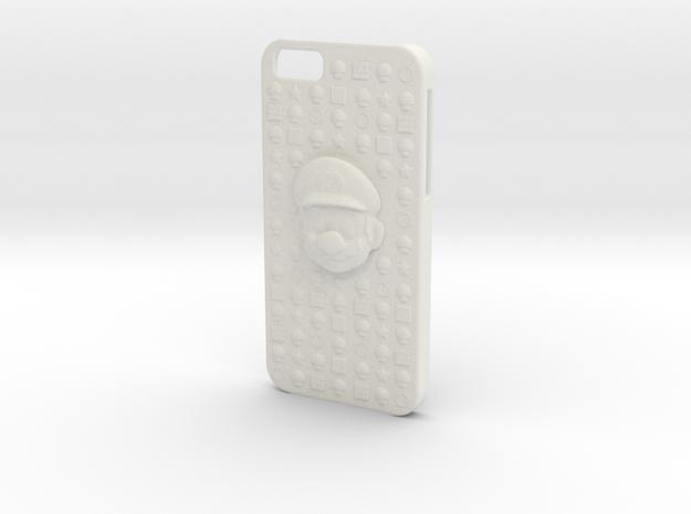 Mario iPhone 6 Case in White Strong & Flexible