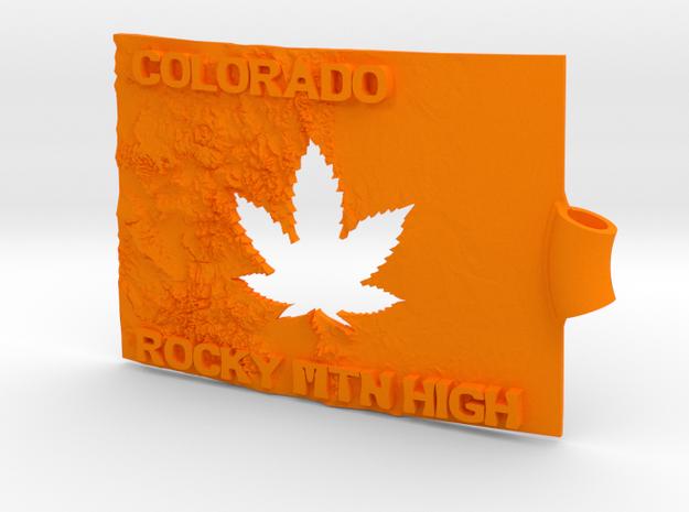 Colorado Marijuana Key Fob 3d printed